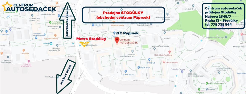 Mapa Stodůlky
